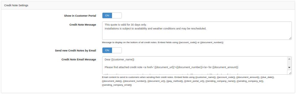credit-note-settings